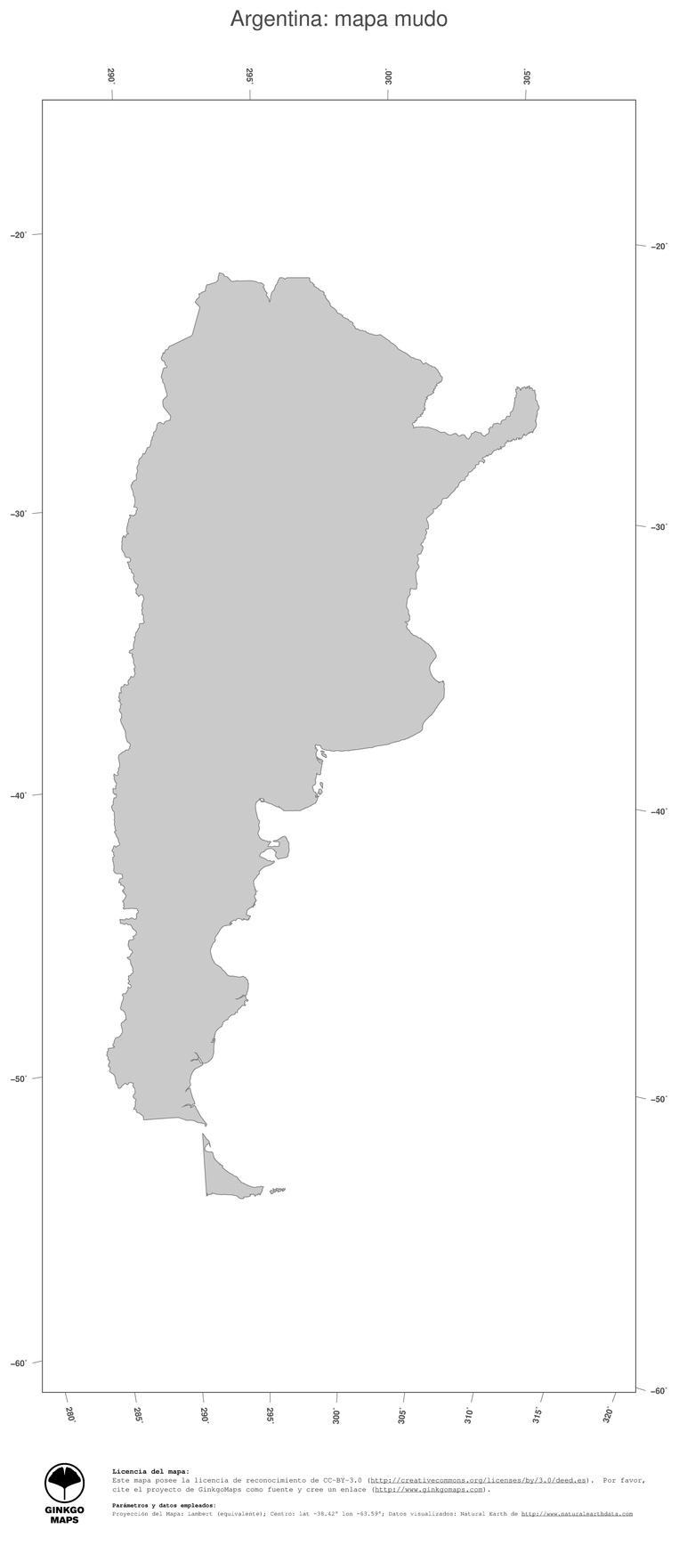 Mapa Argentina Mapas Colección Continente América Del Sur Record - Argentina mapa