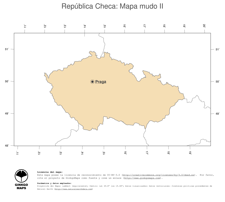 Mapa Repblica Checa mapas coleccin continente Europa record