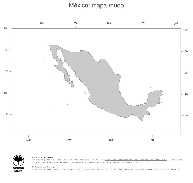 Mapa México Mapas Colección Continente América Del Norte Record - Mapa de mexico