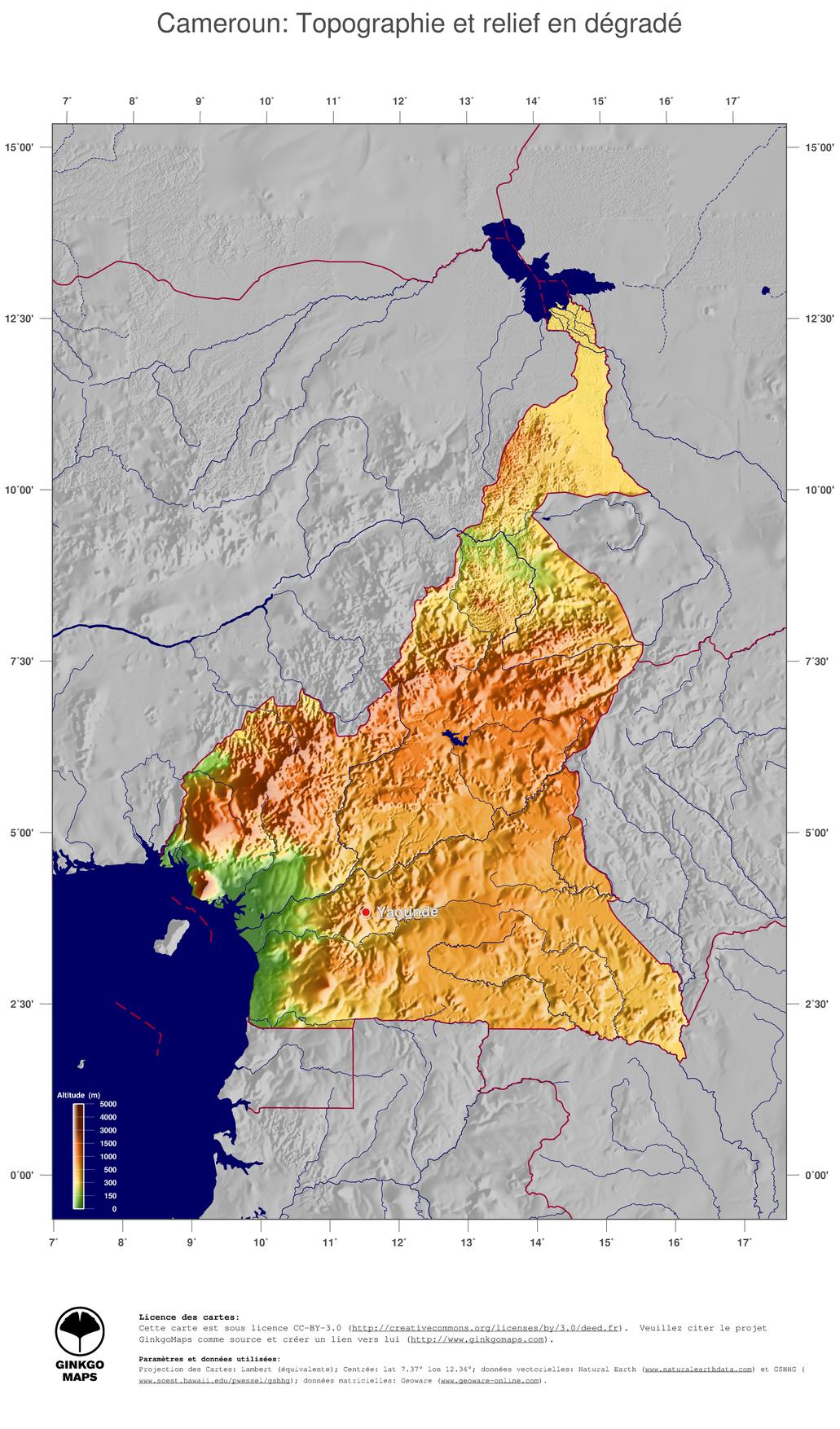 cameroun relief