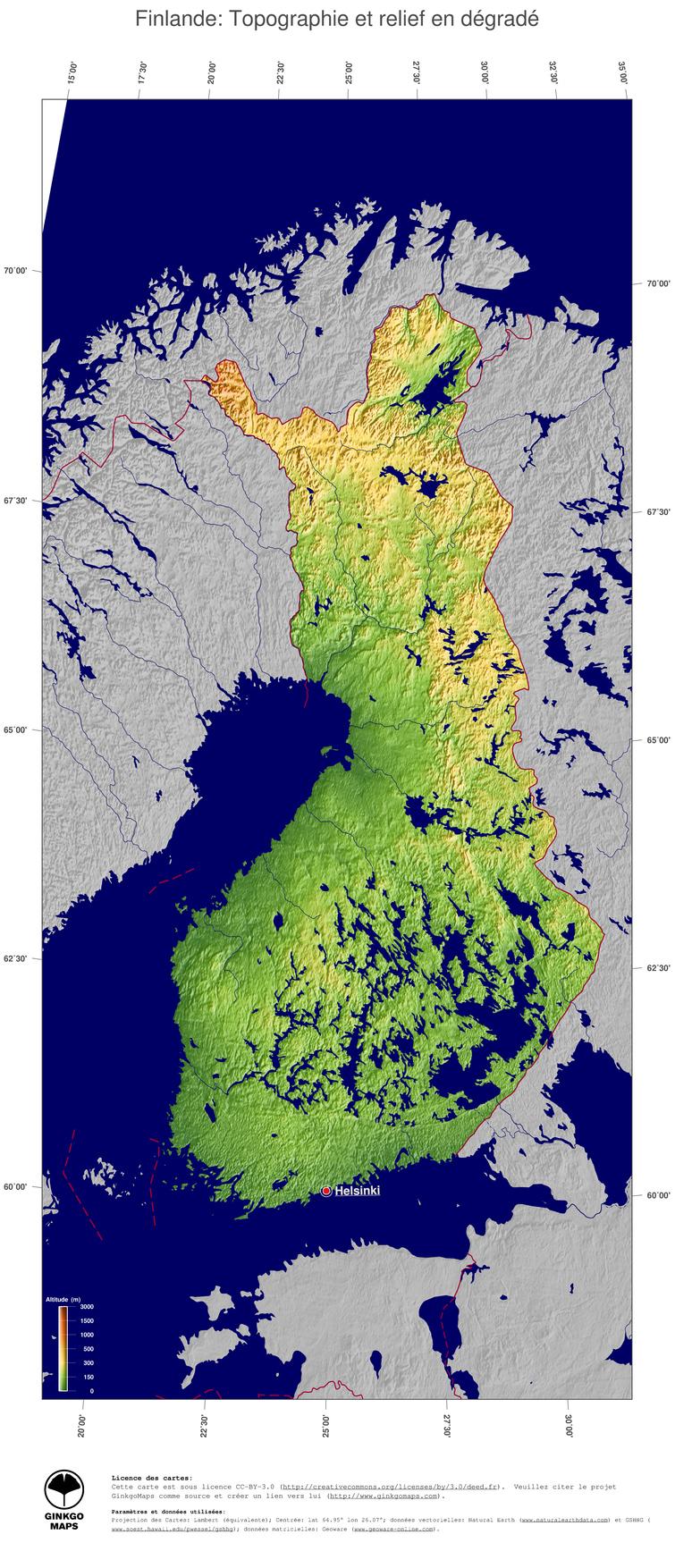 finlande relief