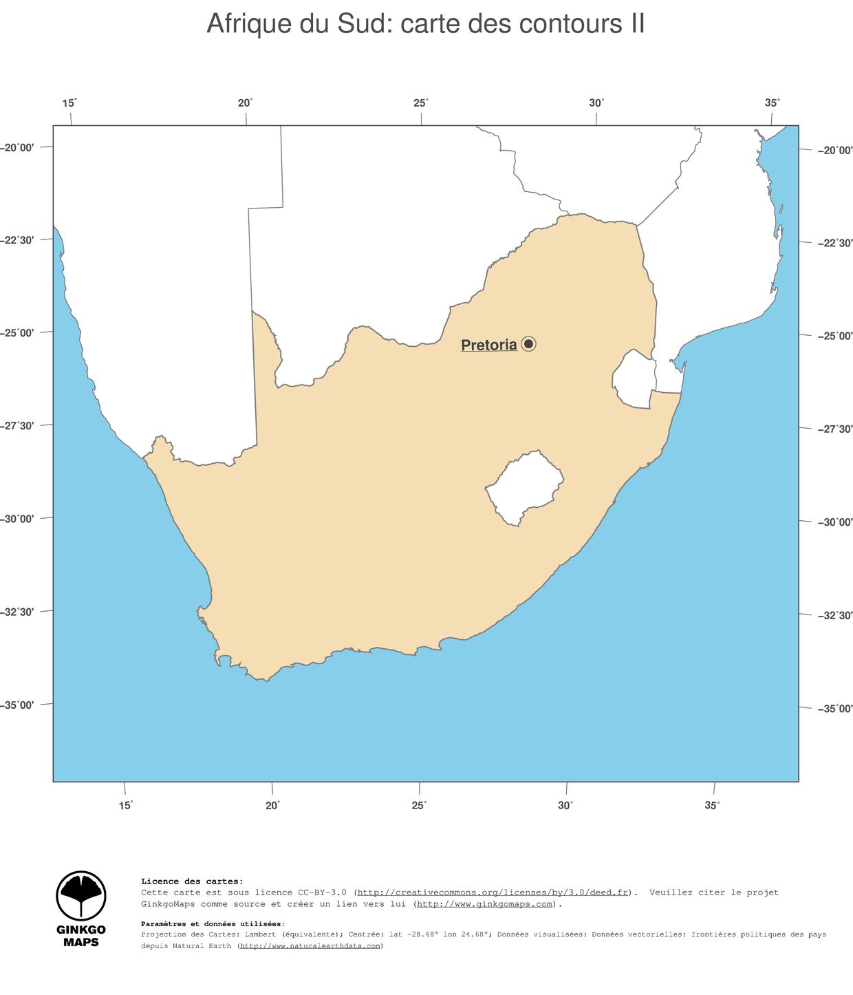 Carte Afrique du Sud | cartes géographiques Afrique ...